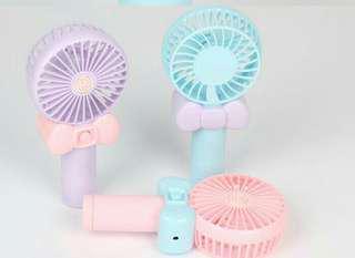 Kipas angin usb mini fan charger karakter