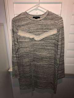 forever 21 grey sweater dress size M