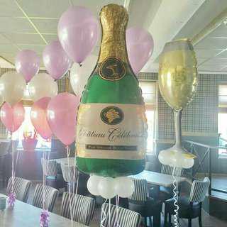 Big Size Wine & Glass Balon