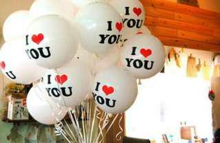 I LoVe You Balon