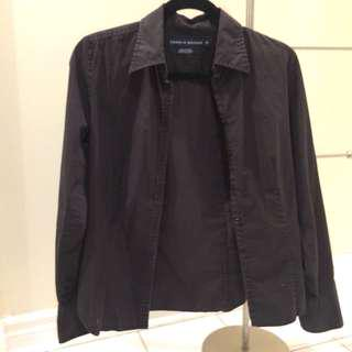 Tommy hilfiger black button up