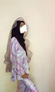 Horsehair veil organza purple belacan