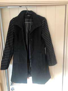 Coroline Morgan Studded Black Coat