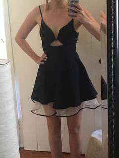 Flirty Navy Party Dress