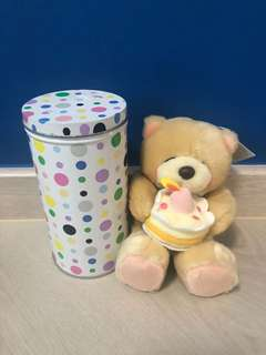 Friends forever birthday bear in a surprise tin