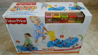 Fisher Price Gobble and Go Hippo Peek a Blocks