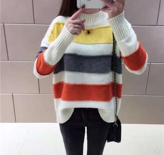 Multicolor Loose knit sweater