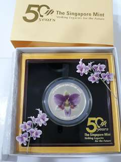 Singapore Mint 50 year $5 Silver Proof Coin