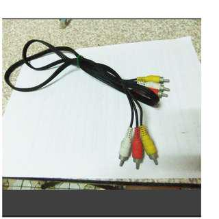 【限量】紅白黃AV影音訊號端子線 傳輸線
