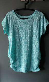 Tiffany blue long top