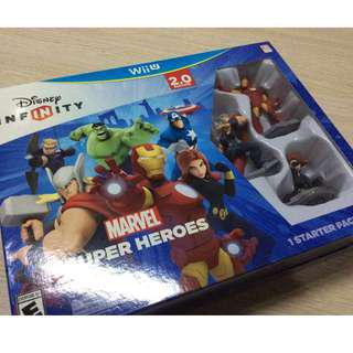 Disney Infinity v2 Marvel Avengers for Nintendo Wii U complete in box