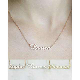 Name necklace  custom made jewelry