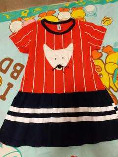 紅間女童連身裙