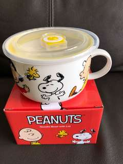 Snoopy Noodle Bowl with Lid