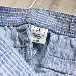 Gap stripped trousers 淺藍白 直間 女童長褲