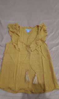Hnm yellow blouse