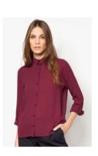 Dorothy Perkins wine collar top