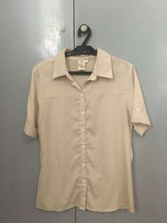 Poetry Cream Button Down Collared Polo