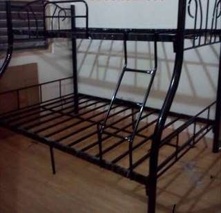 Steel double deck bed frame