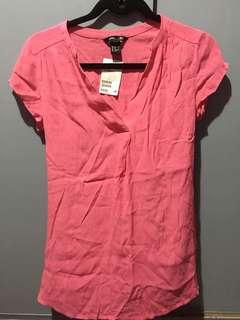 H&M pink blouse