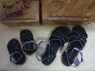 Saltwater sandals for mommy and baby