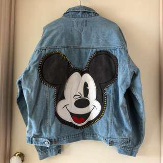 Denim jacket Mickey mouse