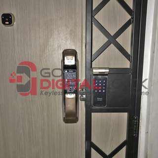 Samsung P728 Push Pull Digital Lock Bundle with Gateman Z10-IH Gate Digial Lock at $1480