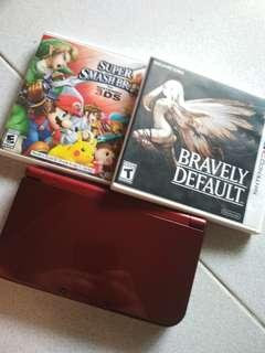 Nintendo 3DS XL with original games