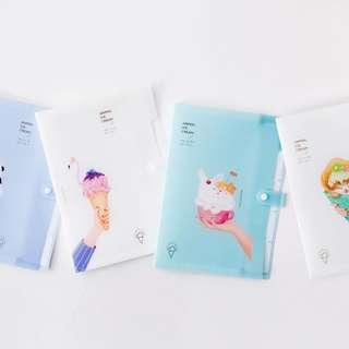 Animal Ice Cream 5 Pockets File Folder