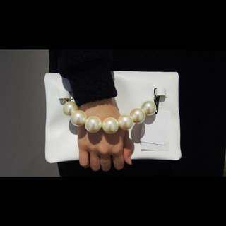 Japan pearl clutch bag (white only)