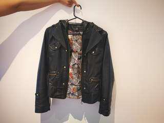 Lined Pleather Jacket