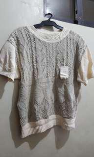 Korean knitted Top Blouse L to XL