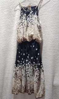 Halter Neck Embroidered Dress