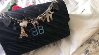 Balenciaga Bb round M bag 特別版(bb logo)