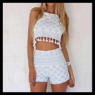 (L) NWT Sabo Skirt set