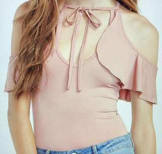 Brand New Pink Tie Bodysuit