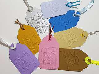 1pc Handmade Embossed Thank You Tag ( Teacher's Day Farewell )