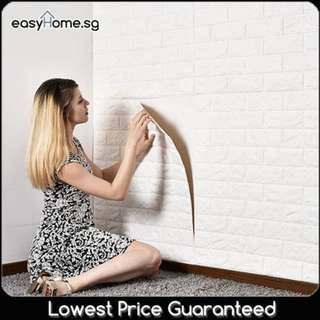 3D Brick Wallpaper / Self Adhesive Textured Foam Sticker