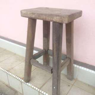 Vintage Stool Kayu Antik
