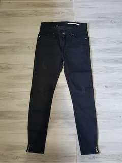 (New) Zara Slim fit Black Pants