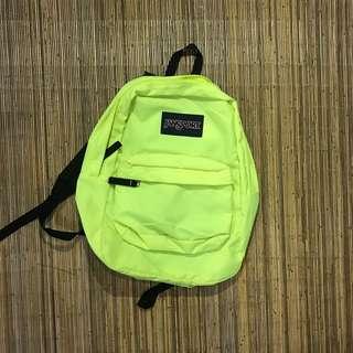 JANSPORT exposed backpack neon yellow