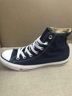 高筒帆布百搭休閑鞋、深藍色牛仔料