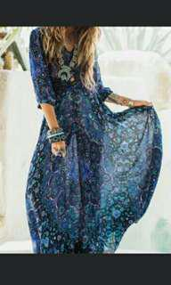 Imitation Spell Gypsy BNWT Sheer Maxi Dress Throw
