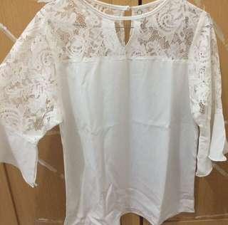 Brukat white top