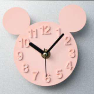 Fridge Clock - Mickey (Pink)