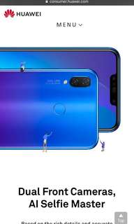 New purple Huawei Nova 3i