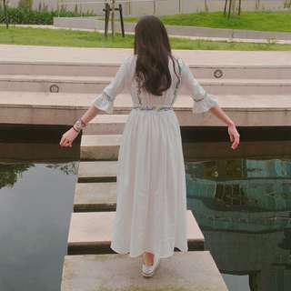🚚 純白仙女系洋裝
