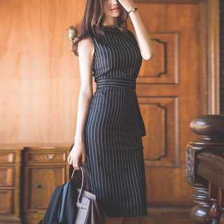 🚚 [INSTOCKS] Pinstripe Semi-formal Dress
