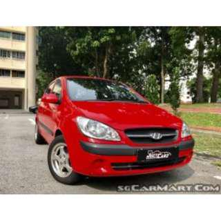Chilli Red Stylish & Fuel Economy Hyundai Getz 1.4A 5DR For Rent $315/week (For Grab/Personal)