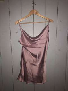 Lilac Cowl Neck Dress